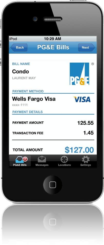 PG&E's Mobile Bill Pay, designed by Vancouver's TIO Networks.