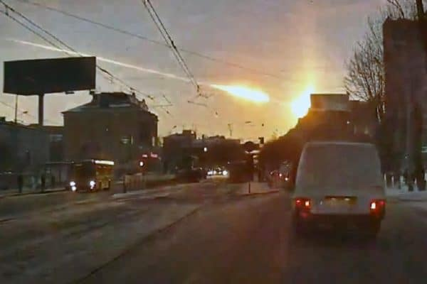 Early Friday, a bus-sized meteor exploded over Russia's Ural Mountains.